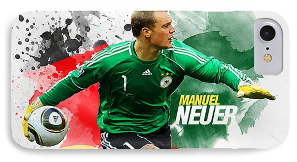 Manuel Neuer IPhone Case by Semih Yurdabak
