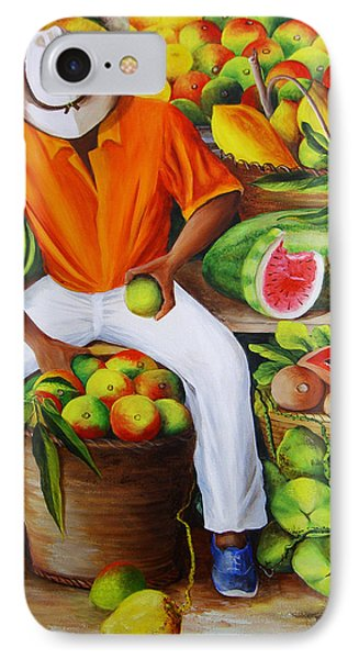 Manuel The Caribbean Fruit Vendor  IPhone 7 Case