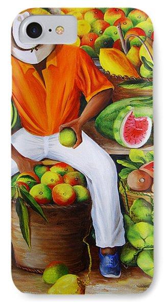 Manuel The Caribbean Fruit Vendor  IPhone Case