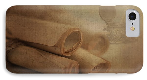 Manuscript Scrolls Still Life IPhone Case