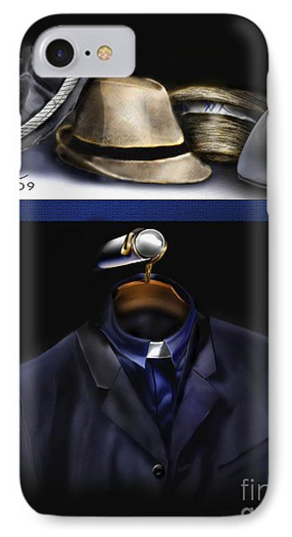 Many Hats One Collar Phone Case by Reggie Duffie