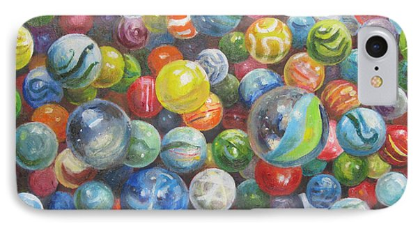 Many Marbles IPhone Case by Oz Freedgood