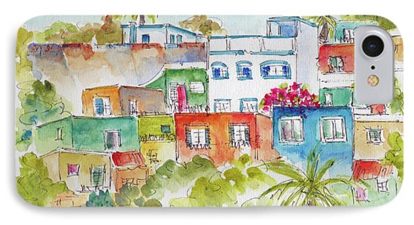 IPhone Case featuring the painting Manzanillo Hillside by Pat Katz