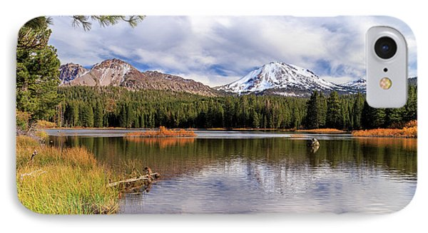 IPhone Case featuring the photograph Manzanita Lake - Mount Lassen by James Eddy