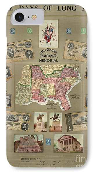 Map: Confederate States IPhone Case by Granger