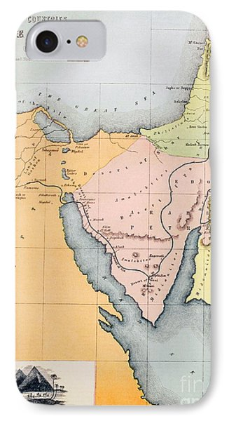 Map Depicting The Countries Between Egypt And Canaan IPhone Case by English School