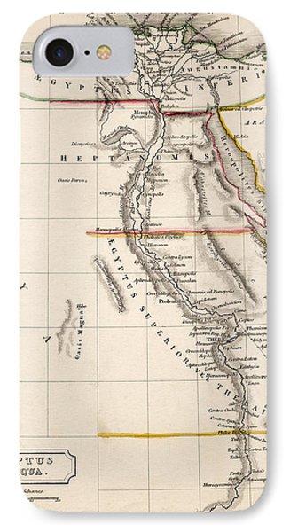 Map Of Aegyptus Antiqua IPhone Case