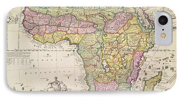 Map Of Africa IPhone Case by Pieter Schenk