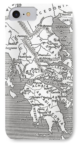 Map Of Ancient Greece IPhone Case by English School