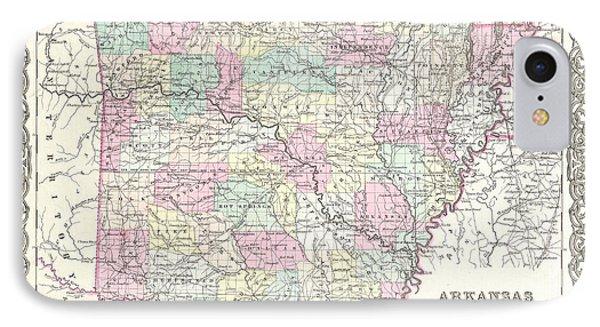 Map Of Arkansas IPhone Case