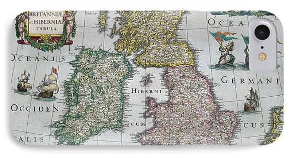 Map Of Britain Phone Case by English school
