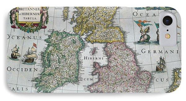 Map Of Britain IPhone Case