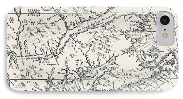 Map Of Canada And Nova Scotia IPhone Case
