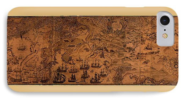 Map Of Cape Breton 1764 IPhone Case by Andrew Fare