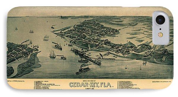Map Of Cedar Key 1884 IPhone Case