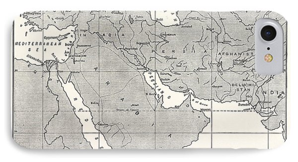 Map Of Central Asia IPhone Case