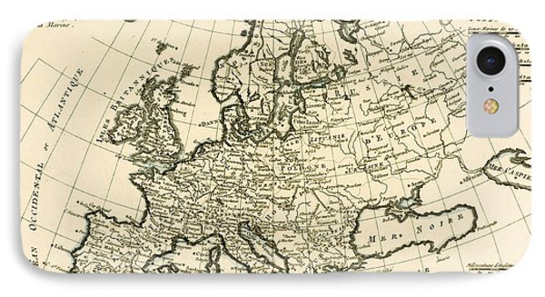 Map Of Europe Phone Case by Guillaume Raynal