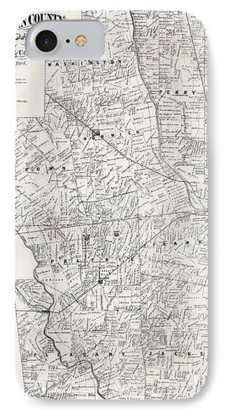 Map Of Franklin County Ohio 1883 IPhone Case