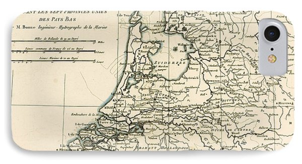 Map Of Holland Including The Seven United Provinces Of The Low Countries Phone Case by Guillaume Raynal