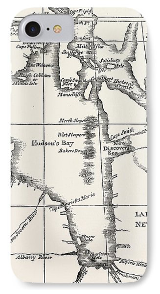 Map Of Hudson Bay IPhone Case by Henry Ellis