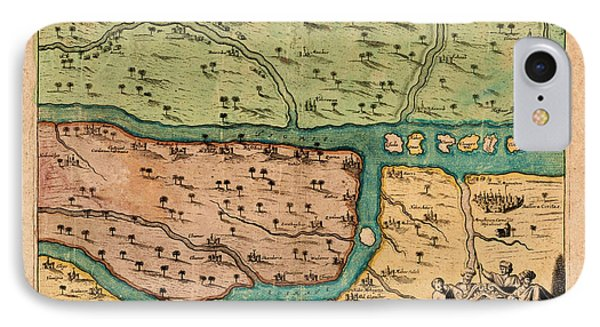 Map Of Iraq 1680 IPhone Case by Andrew Fare