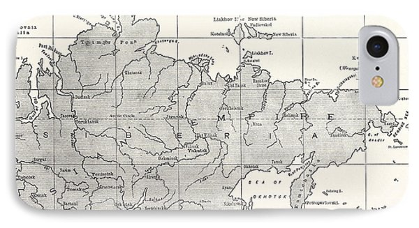 Map Of Siberia And Part Of China IPhone Case by American School