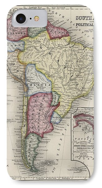 Map Of South America IPhone Case