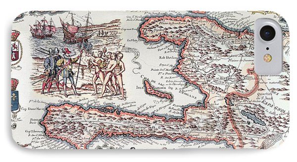 Map Of The Island Of Haiti IPhone Case