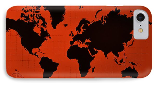 IPhone Case featuring the photograph Map Of The World Copper by Rob Hans
