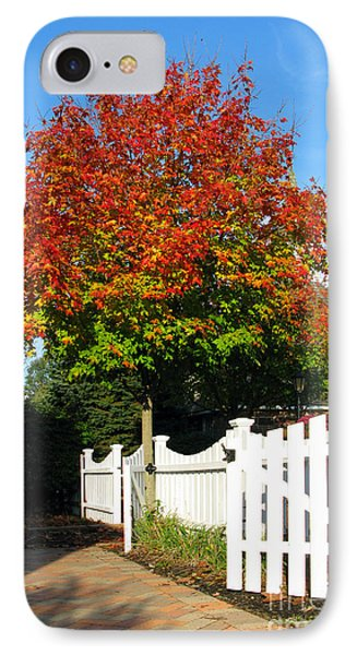 Maple And Picket Fence IPhone Case