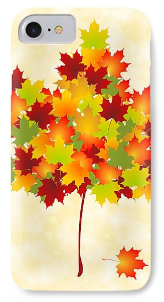 Maple Leaves IPhone 7 Case by Anastasiya Malakhova