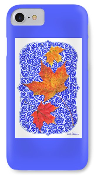 IPhone Case featuring the digital art Maple Leaves by Lise Winne