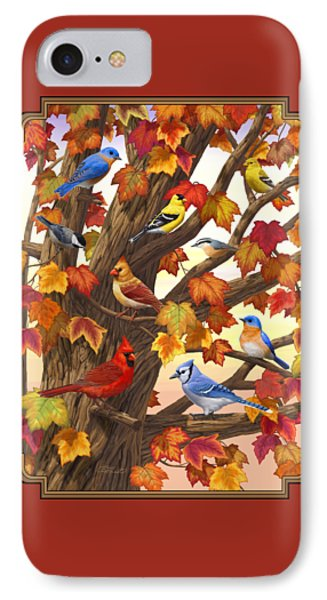 Maple Tree Marvel - Bird Painting IPhone Case by Crista Forest