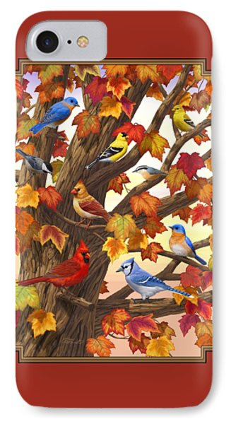 Maple Tree Marvel - Bird Painting IPhone 7 Case by Crista Forest
