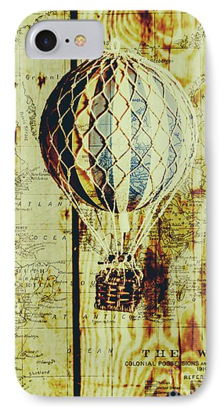 Mapping A Hot Air Balloon IPhone Case by Jorgo Photography - Wall Art Gallery