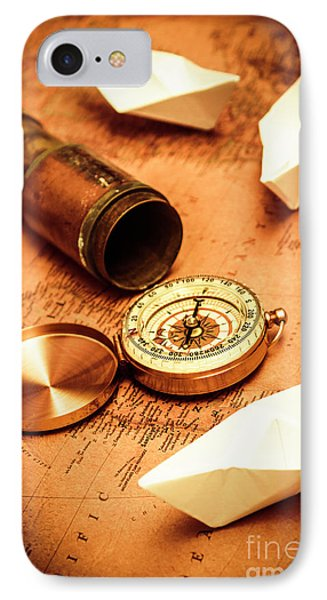 Maps And Bearings IPhone Case by Jorgo Photography - Wall Art Gallery