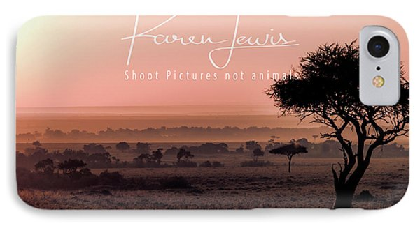 IPhone Case featuring the photograph Mara Pink Dawn  by Karen Lewis