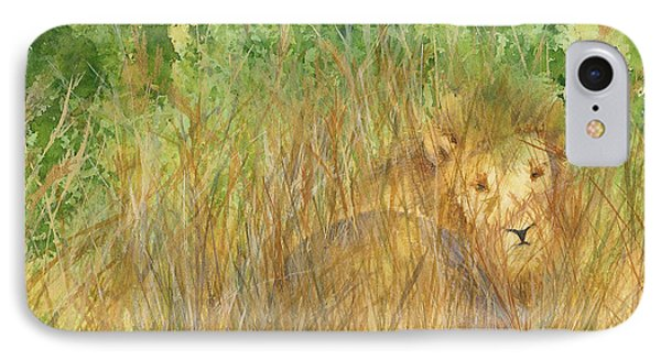 IPhone Case featuring the painting Mara The Lioness by Vicki  Housel
