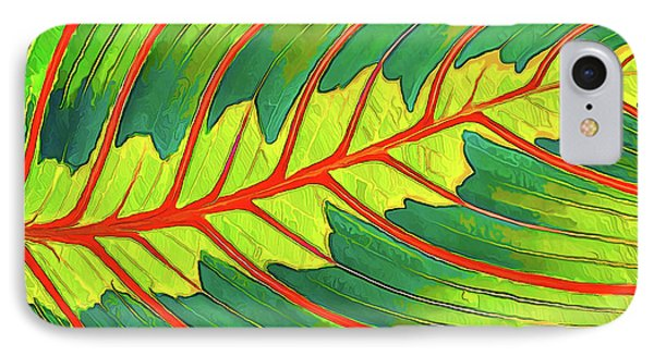 IPhone Case featuring the digital art Maranta Red 2 by ABeautifulSky Photography