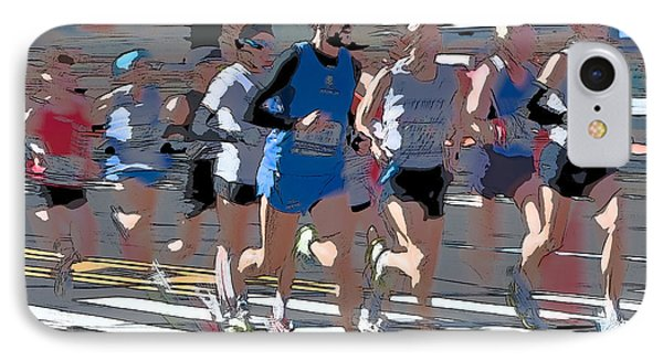 Marathon Runners I Phone Case by Clarence Holmes