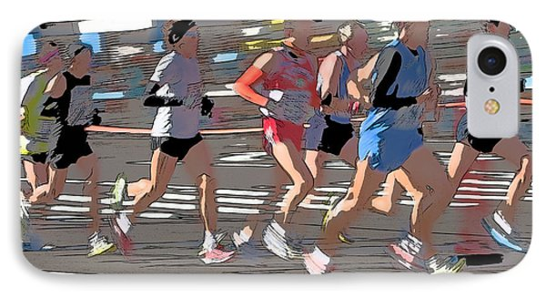 Marathon Runners II Phone Case by Clarence Holmes
