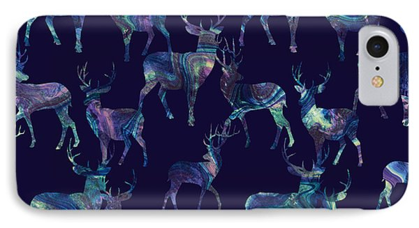 Marble Deer IPhone Case by Varpu Kronholm