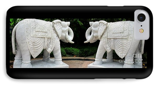 Marble Elephants IPhone Case by Randall Weidner