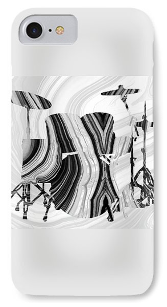 Marbled Music Art - Drums - Sharon Cummings IPhone Case by Sharon Cummings