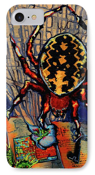 Marbled Orbweaver IPhone Case by Emily McLaughlin