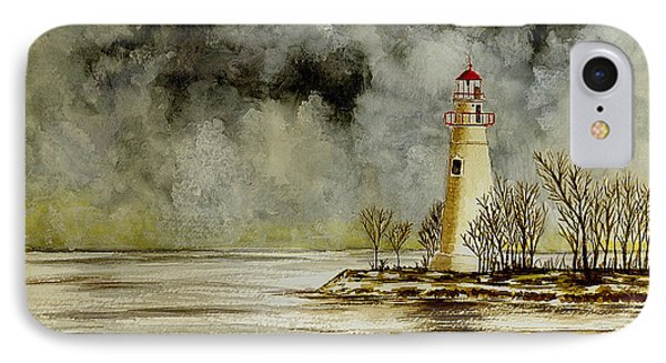 Marblehead Lighthouse In The Winter Phone Case by Michael Vigliotti