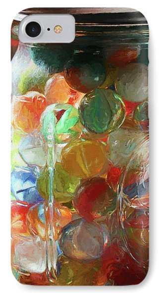 Marbles In A Jar 2 Painterly IPhone Case