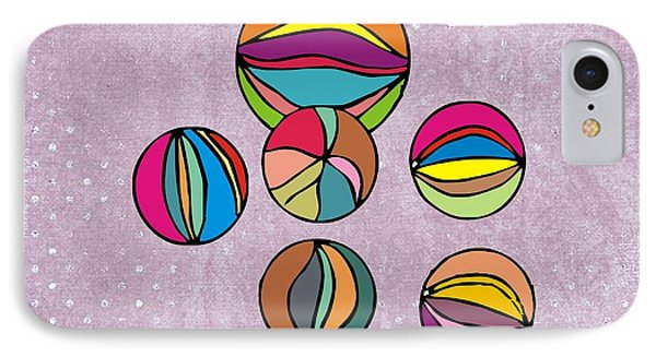 Marbles IPhone Case by Priscilla Wolfe