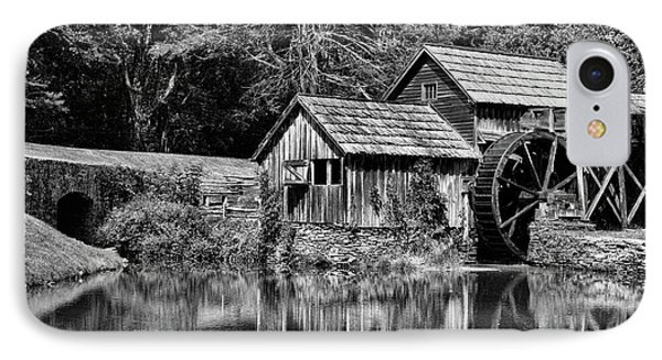 Marby Mill In Black And White IPhone Case by Paul Ward