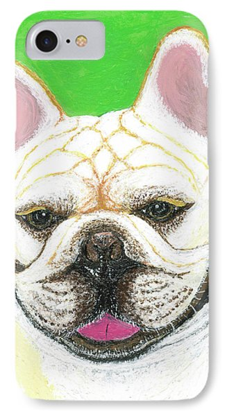 IPhone Case featuring the painting Marcel French Bulldog by Ania M Milo